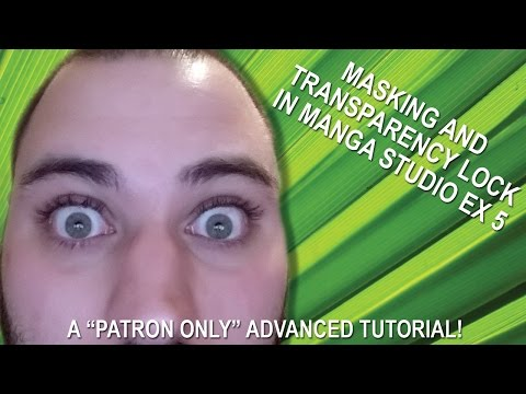 Masks and Transparency Locks in Manga Studio EX 5