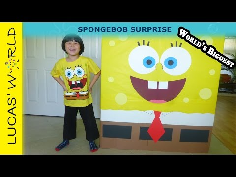 Giant Spongebob Surprise Box with New Sponge out of Water Toys and Building Sets
