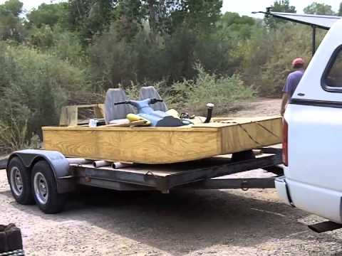 Building a wooden jet jon boat Part 5 - YouTube