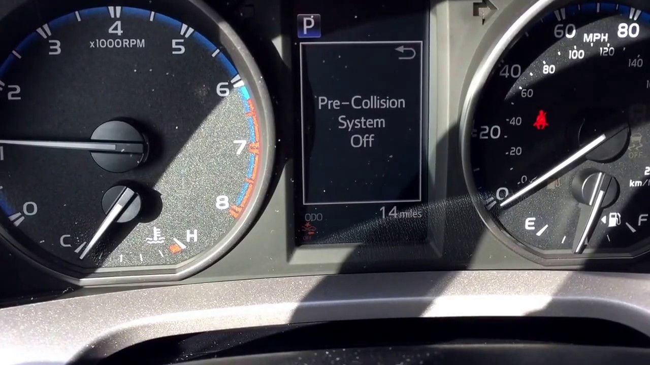 2017 Toyota RAV4 pre collision system and lane departure alert