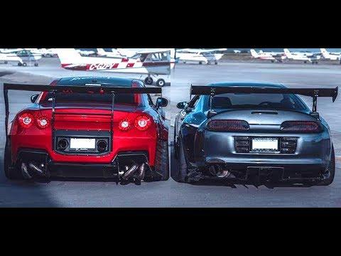 NISSAN GTR R35 VS TOYOTA SUPRA MK4  -||- Versus Series