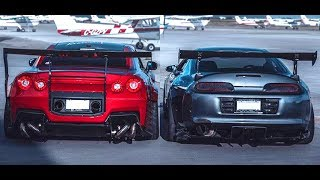 NISSAN GT-R R35 VS TOYOTA SUPRA MK4  -||- Versus Series