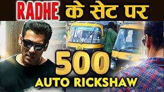 RADHE | Salman Khan ने किया 500 AUTO RICKSHAW के साथ गाना शूट
