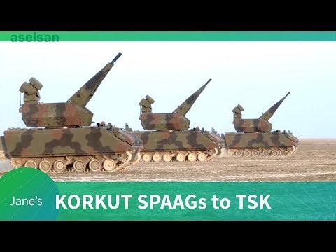 Korkut SPAAGs delivered to TSK