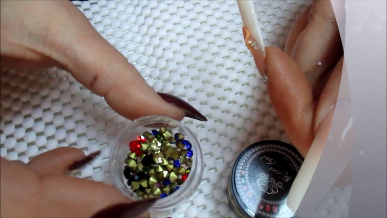 Nail art gel for jewelry - YouTube