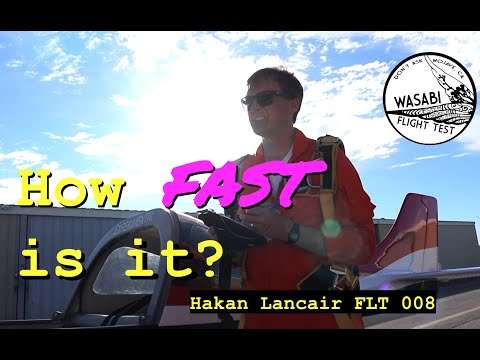 How Fast is it? - Flt 8 of Hakan's Modified Lancair - Vortex Generators Tufts & Speed Check