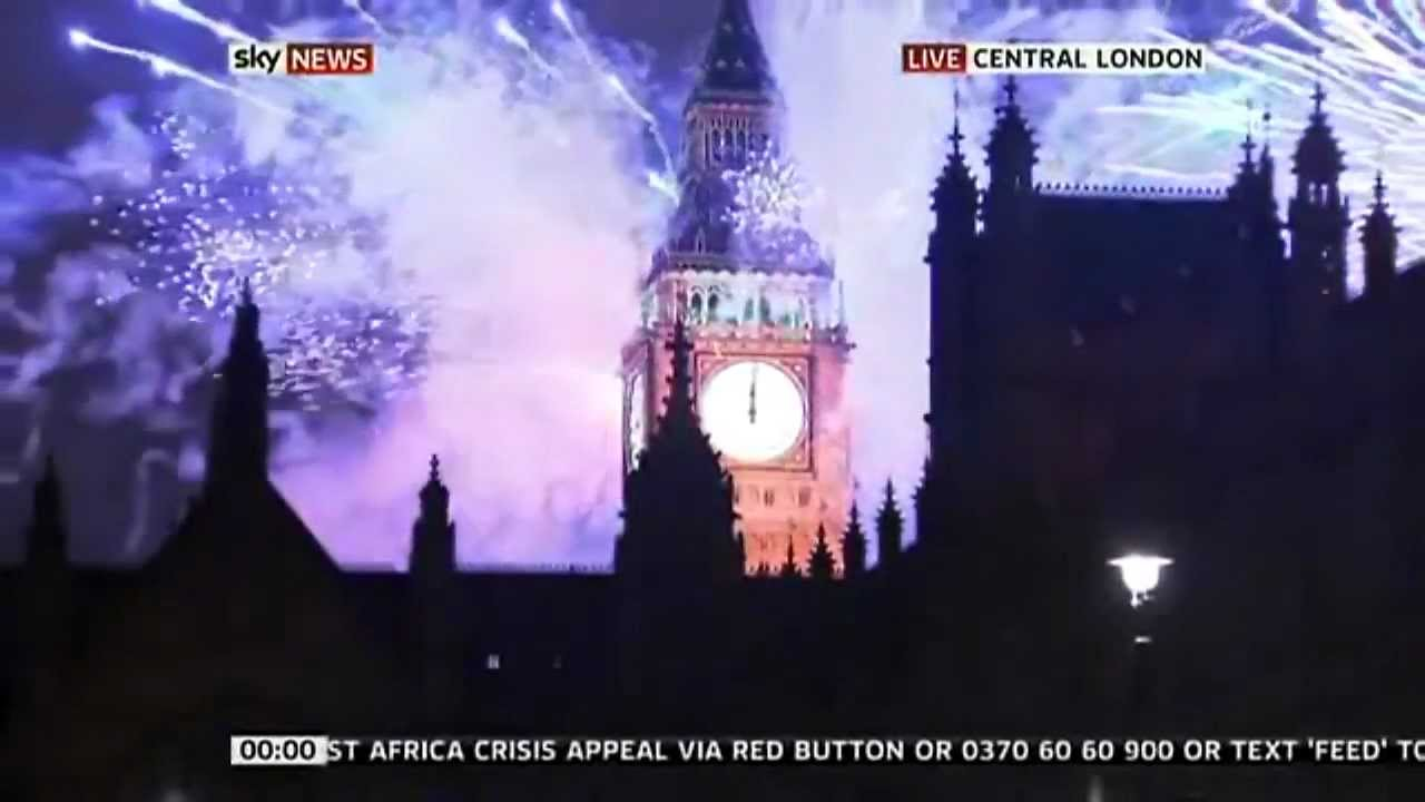 countdown New Year 2012 and celebrations around the World