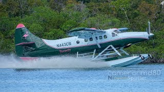 DHC 3 Turbo Otter Lake Departure to Flamingo Cay | N443CB