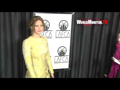 Jennifer Lawrence arrives at The 38th Annual LA Film Critics Association Awards