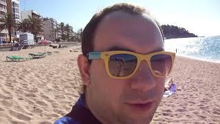 Раннее утро на пляже в Испании