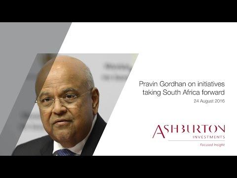 Pravin Gordhan referencing Ashburton Investments