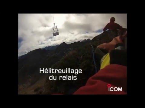 Installation relais ICOM Site de Naguille SDIS 09