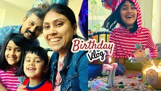 My Daughter's Birthday Vlog I Yesha Turns 7 - Indian Mom Vlogger in Canada