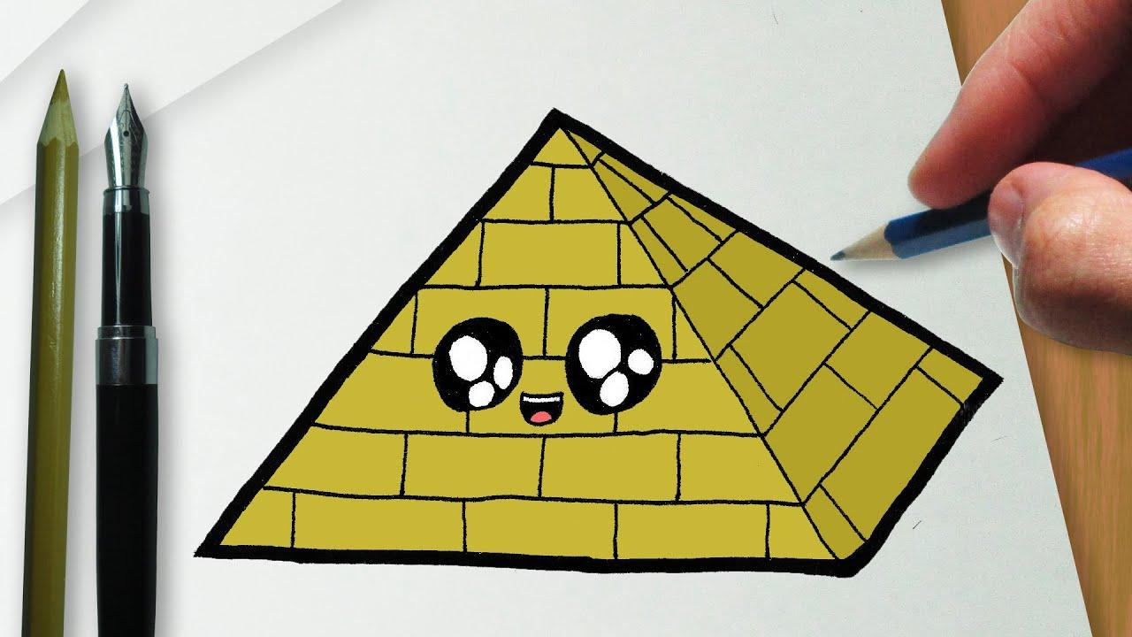 Como Desenhar Uma Piramide Kawaii Youtube