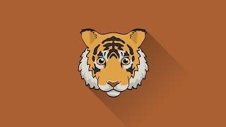 [Illustrator] Tiger Icon Tutorial
