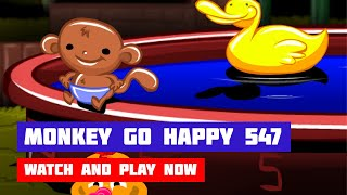 Monkey GO Happy: Stage 547 — Summertime Pool Party · Game · Walkthrough