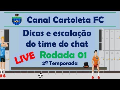 #LIVE CANAL CARTOLETA FC | RODADA 01| CARTOLA FC 2018 DICAS E ESCALAÇÃO DO TIME DO CHAT