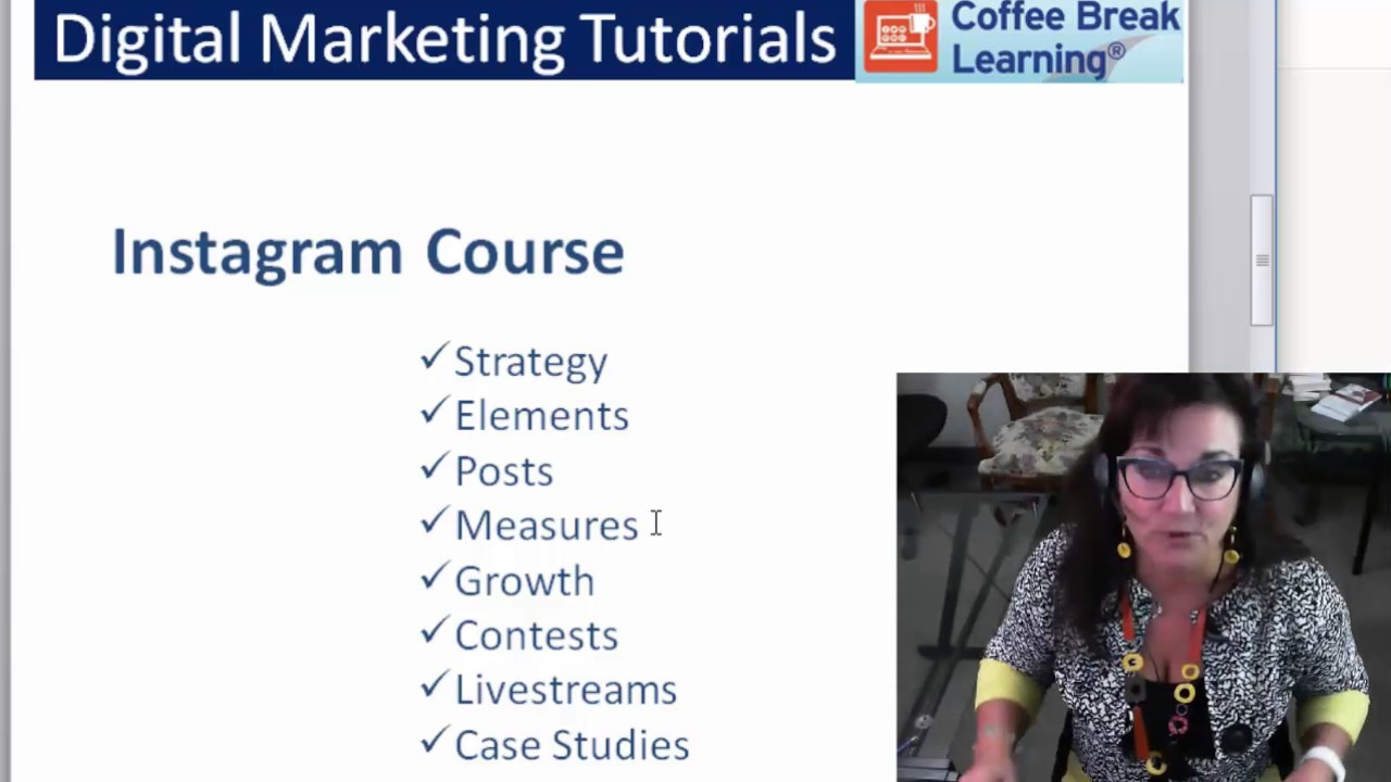 Video Tutorials - Instagram Course Content