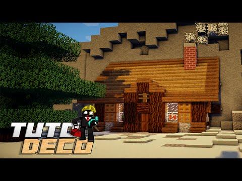 Minecraft construire un chalet maison de montagne - Decoration maison minecraft interieur ...