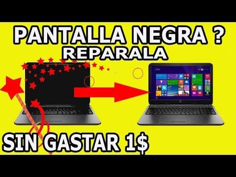 Recuperar laptop que Enciende pero con la  Pantalla Negra no la tires Sin Gastar 1 Dolar