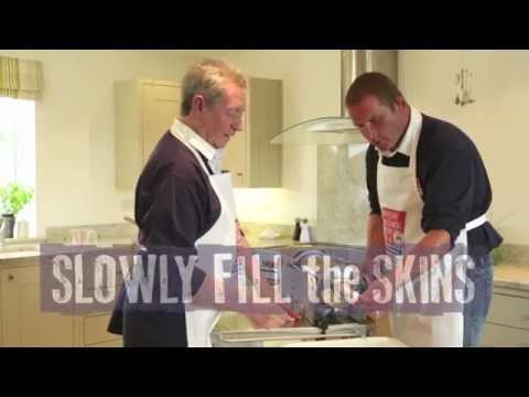 Phil Vickery learns a sausage lesson from Master Butcher Keith Fisher