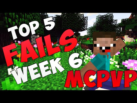 Minecraft | MCPVP Top 5 FAILS | Week #6 Kit None and Ice