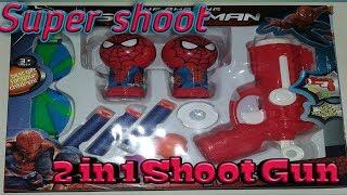Toy shoot gun for kids, Doraemon ,Spider-Man character
