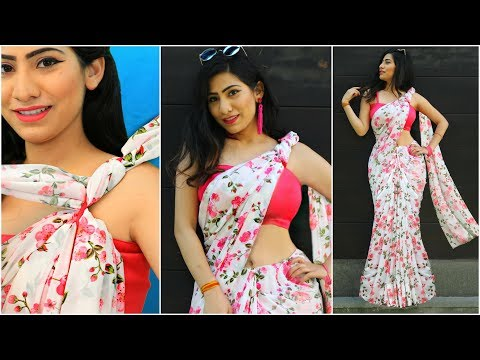 SAREE Draping for School/College FAREWELL - TRICKS To Wear OLD Sari & Look STYLISH | #Sketch #Anaysa thumbnail
