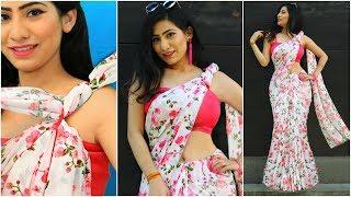 SAREE Draping for School/College FAREWELL - TRICKS To Wear OLD Sari & Look STYLISH | #Sketch #Anaysa