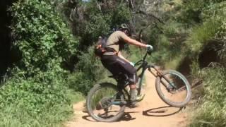 Как проезжать свичбеки El Prieto Trail - How to ride difficult Switchback