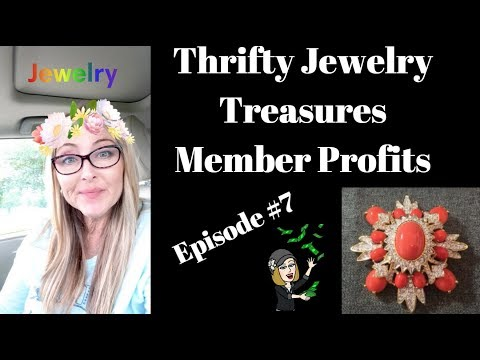 Thrifty Jewelry Treasures Member Profits #7 Sold on eBay