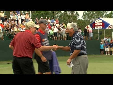 Jack Nicklaus makes great birdie at PNC Father/Son