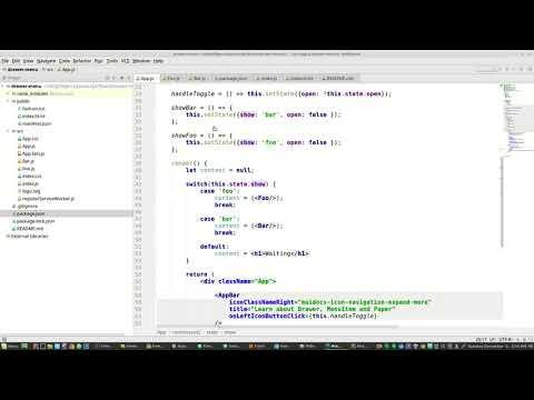 Material Ui React Drawer Menu Paper AppBar - YouTube