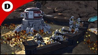 Bly's Clone Army Retreats to Hill Trenches - Men of War: Star Wars Mod
