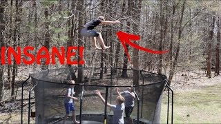 MOST INSANE NEW TRAMPOLINE!