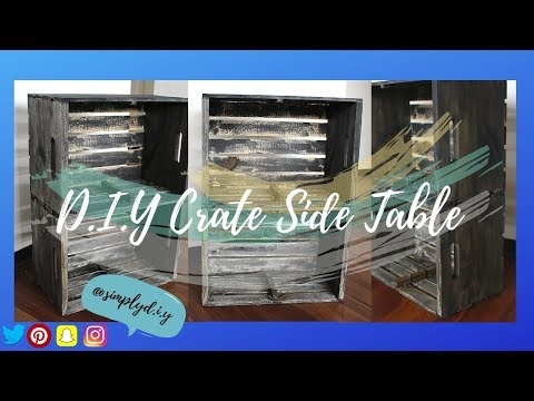 D.I.Y Crate Side Table   Wood DIY, Crate DIY & Farm House DIY   Simply D.I.Y