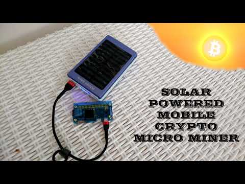 Solar Powered mobile Crypto micro miner on raspberry PI upgraded from ImineBlocks