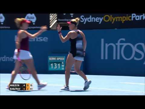 Mirza/Strycova v Babos/Pavlyuchenkova Match Highlights (Final) | Apia International Sydney 2017