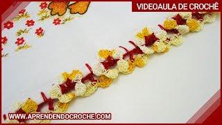 Bico de Crochê Florzinhas – Aprendendo Crochê