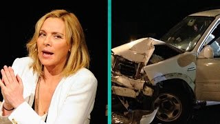 Kim Cattrall Shares Shocking Photos After Teen Crashes Car Into Her House
