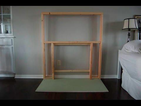 como hacer una chimenea artificial de madera