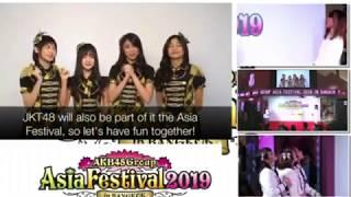 VTR AKB48 Group Asia Festival 2019 in Bangkok AKB48 検索動画 47