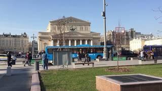 Смотреть видео Большой театр, Москва, Россия онлайн