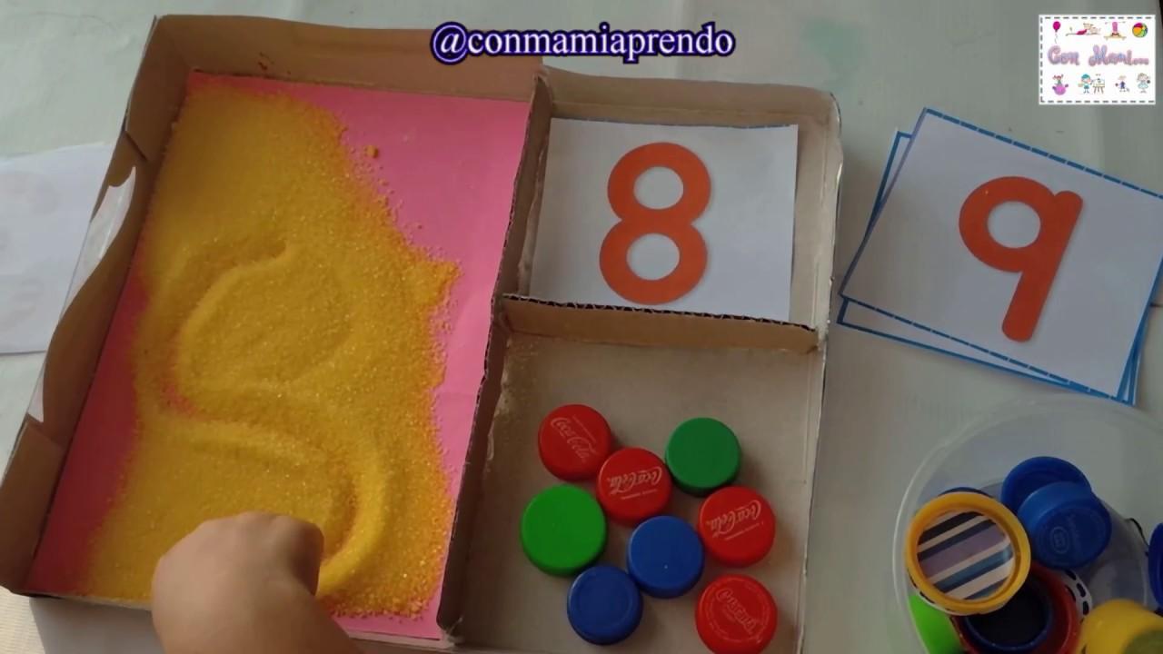 Caja Matematica De Material De Reciclaje Para Ninos De Preescolar