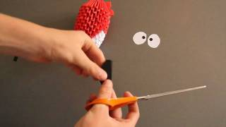 3d Origami How To: Angry Bird Part 2