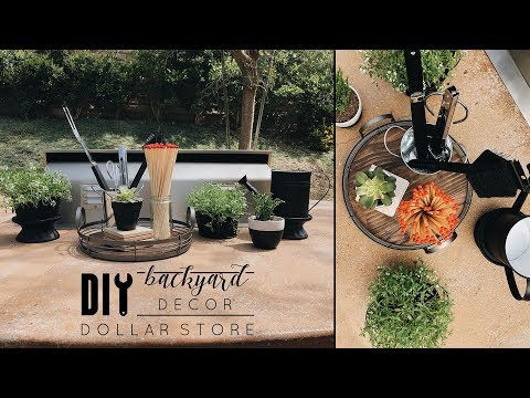 Easy DIY Dollar Store Backyard Decor