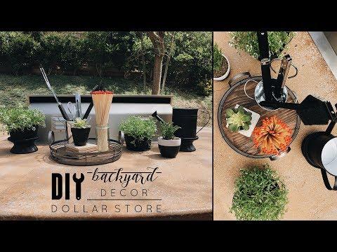 Easy DIY Dollar Store Backyard Decor