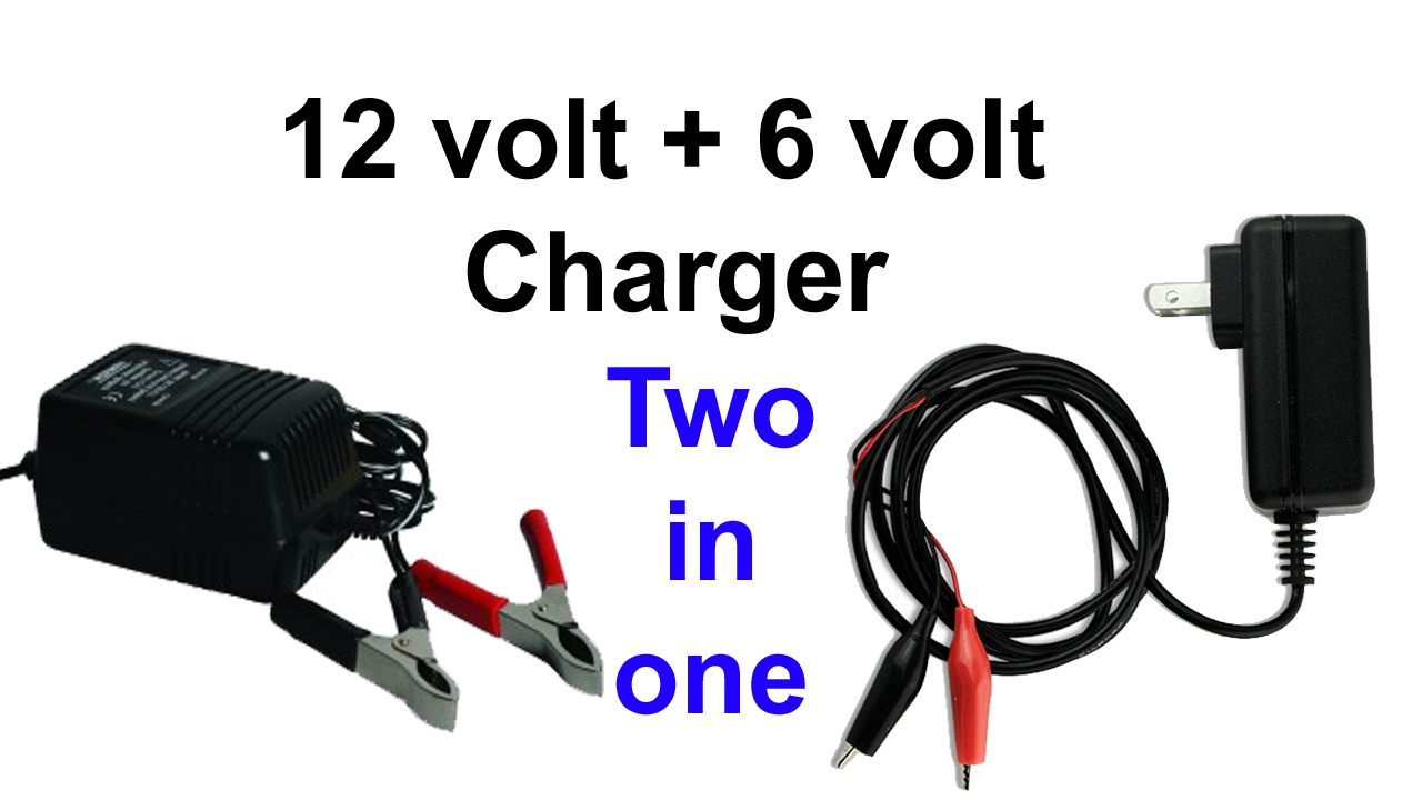 how to make 12 volt charger and 6 volt charger (two in one)
