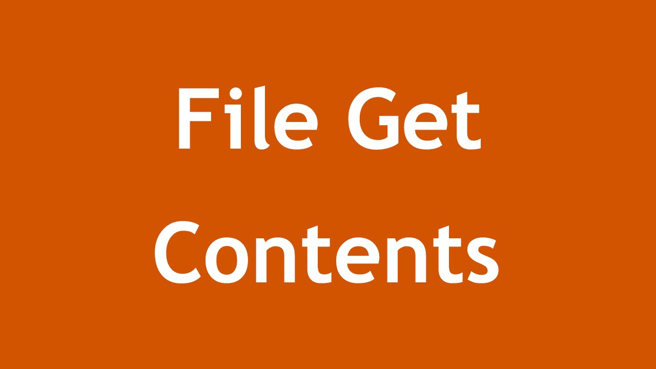 php get content
