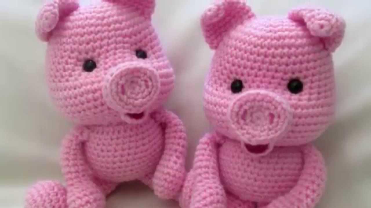 амигуруми схема поросенок игрушки вязаные крючком Free Crochet